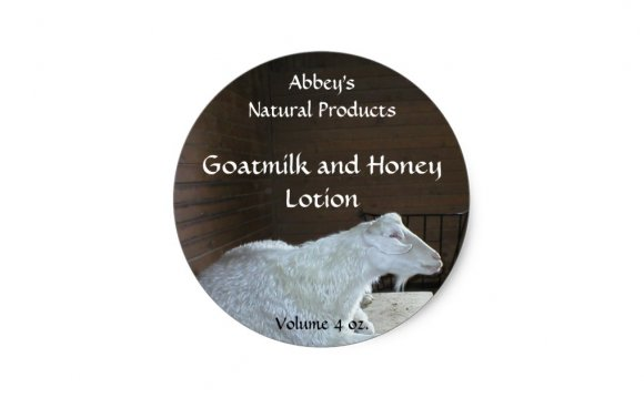 Goat Milk Bath Products Label