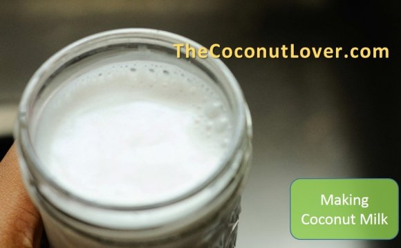Here is your warm coconut milk