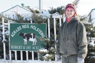 Kristy Ackley, of Ack-Lee Registered Holsteins outside of East Liberty in Logan County, said that last winter helped them prepare for the cold weather of 2015.