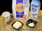 Cooking with kefir milk