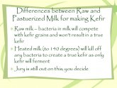 Kefir raw milk