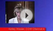 Cora Cow talks about milk production on a dairy farm.