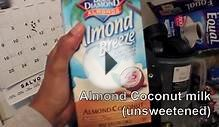 Quick Smoothie:Almond/Coconut milk blend and frozen Banana
